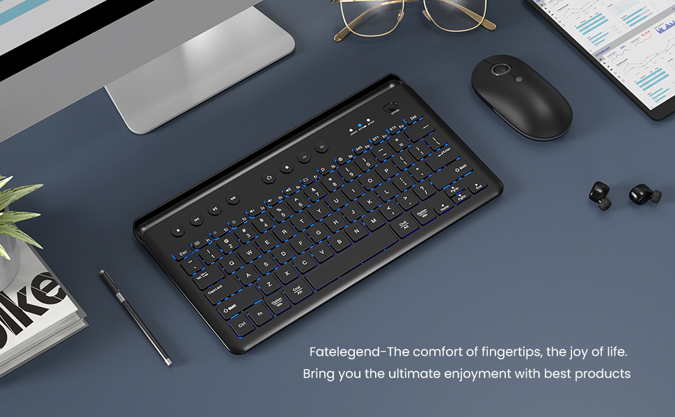 Rechargeable Wireless LED Illuminated Keyboard