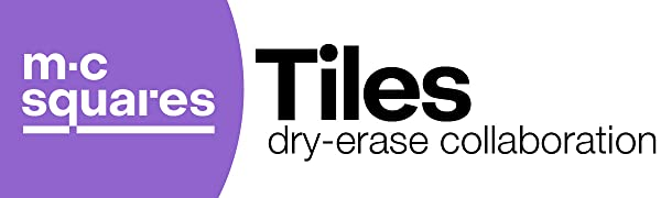 M.C. Squares dry-erase collaboration Tiles