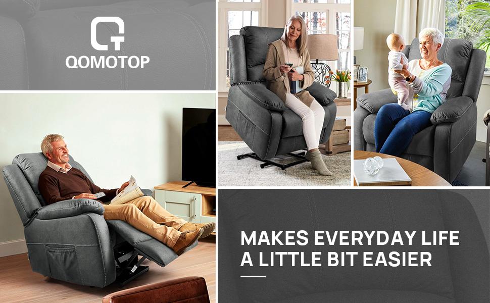 OT Qomotop Recliner Sofa for Back Pain
