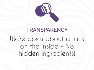 Transparency on all natural ingredients added for healthy and bouncy curls