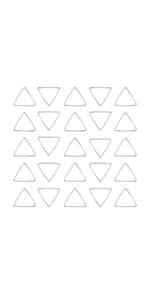 50pcs Triangle Open Bezel Pendant