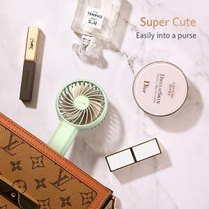 Small Fan Mini Handheld fan Women