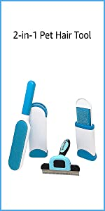 Pet 2-in-1 Deshedding and Hair Removal Tool