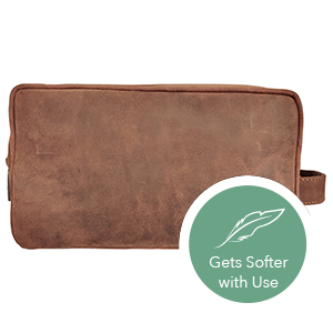 Toiletry Bags Premium genuine Leather Mens Travel Kit Men Perfect Toiletries Accessories Great Gift
