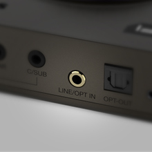 optical-in and line-in ports on sound blaster x4