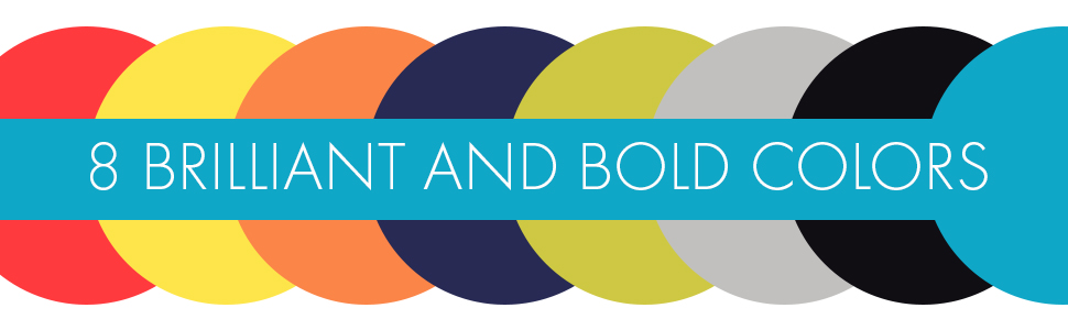 8 Brilliant and Bold Colors To Choose From