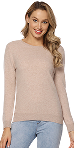 Camel Sweater Long Sleeve Pullover
