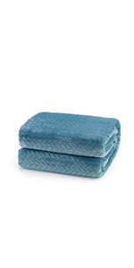 Navy Blue flannel fleece blanket