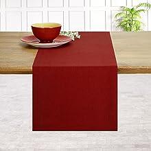 Red Table Runner Plain