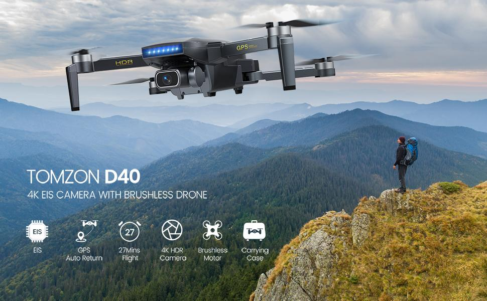 Tomzon D40 Drone with Camera for Adults
