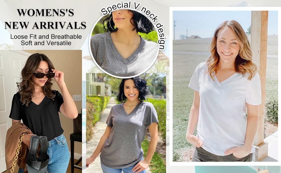 v neck t shirts women