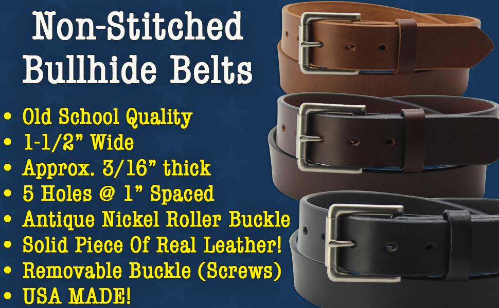 Bullhide Smooth Edge Leather Belt (200)
