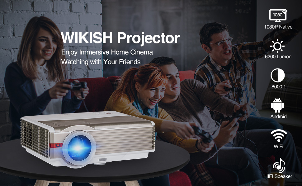 WIKISH PROJECTOR HOME THEATER PROJECTOR