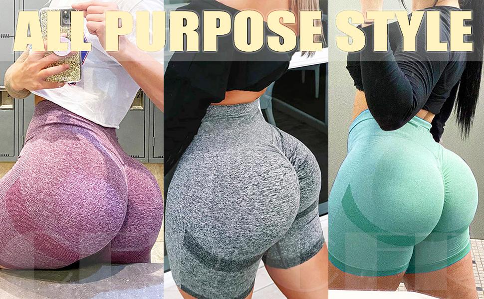 CFR Seamless booty push up running gym sports shorts peach butt lift