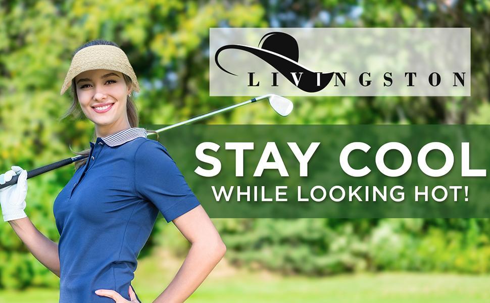 livingston visors for women