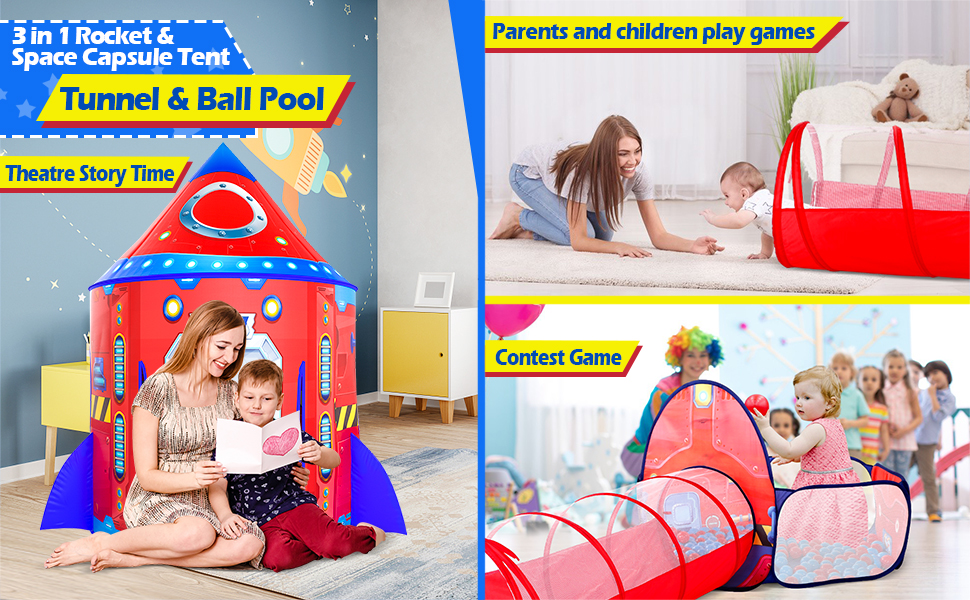 tunnel and ball pit for baby