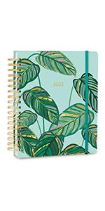 """High Note 2022 Greenery Hardcover Planner, 17-Month Planner: August 2021 to December 2022, 9"""" x 10"""""""