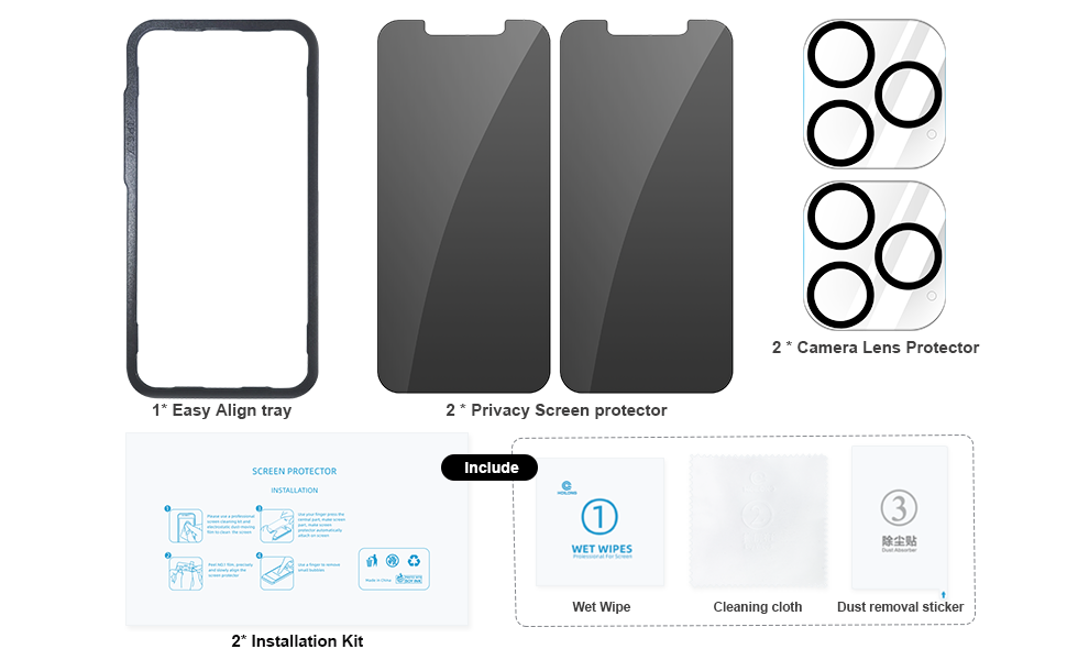 Privacy Screen Protector iPhone 12 Pro Max[6.7''] with 2 Pack Camera Lens Protector