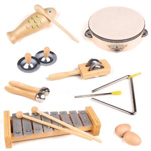wooden music set