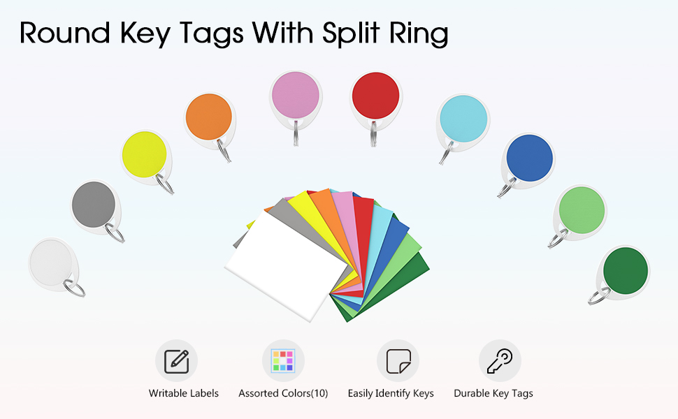 key tags with split ring