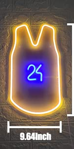 Neon Light Signs LED Light Sign USB or Battery Pink Blue Neon Light Up Party, Game Room,