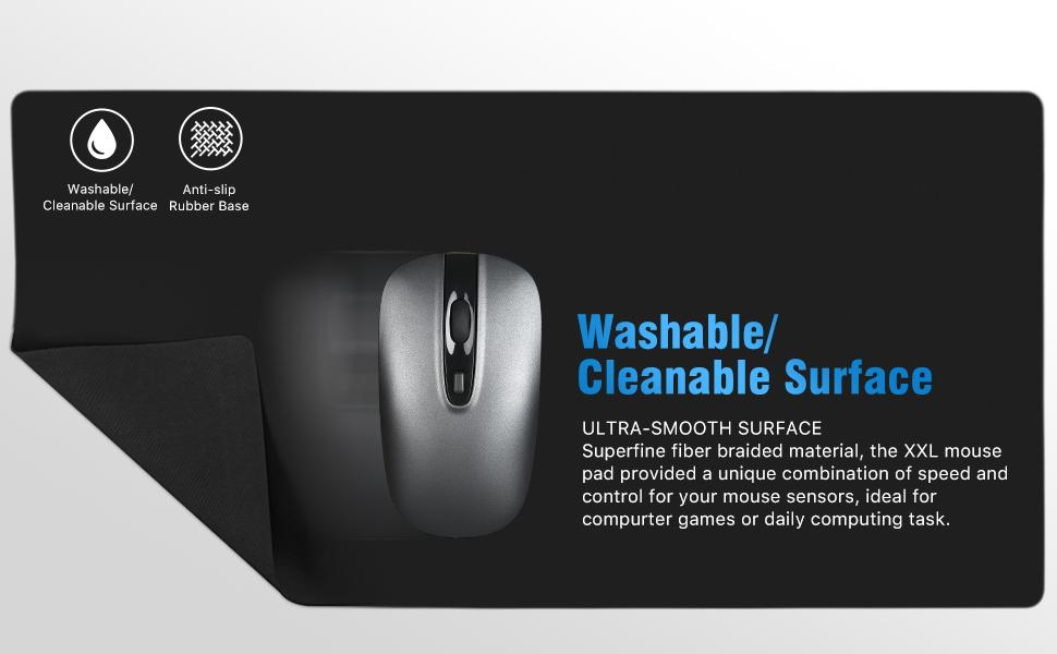 washable/cleanable surface