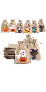 Halloween Drawstring Candy Bags