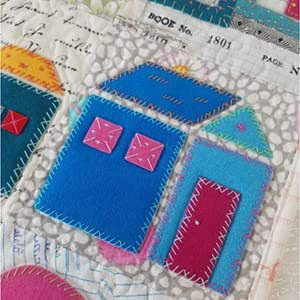 stitches, cute craft, applique, sew house, bold crafts, bright projects, sewing, applique