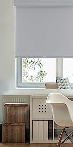 GoDear Design FreeStop Cordless Roller Shade Blind Light Filtering Dobby Grey