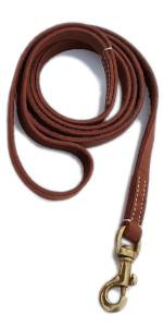 BlazingPaws Vibrania 5.5 ft long Tan color super soft distressed leather dog leash