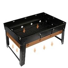 Barbecue Portable Barbecue Pliable Barbecue à Charbon