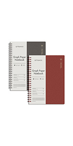 EMSHOI 2 Pack B5 Graph Paper Spiral Notebook Hardcover