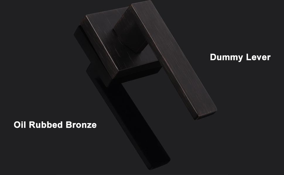 oil rubbed bronze dummy lever