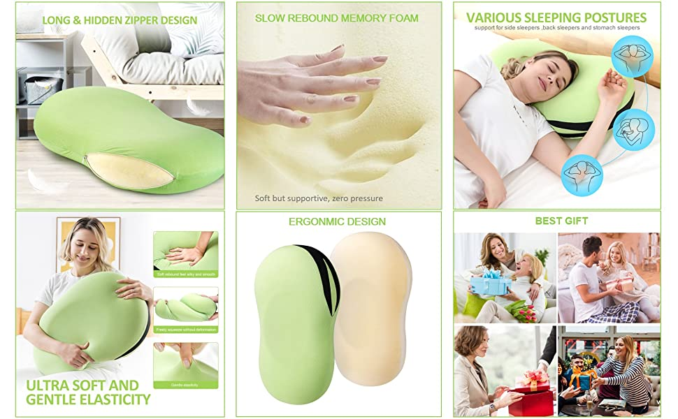 pillow for muscle pain, memory foam cooling pillow, neck pillow for sleeping, couch pillow