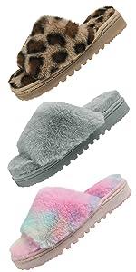 women open toe slippers