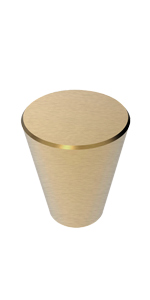 Brushed Cone Knobs