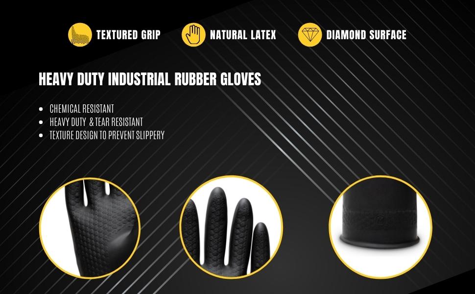 heavy duty rubber work gloves