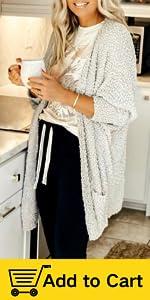 popcorn knit cardigan