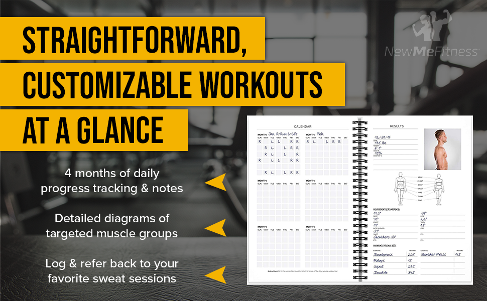 customizable workouts at a glance
