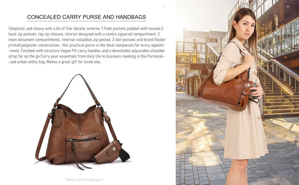 purses and handbags concealed carry