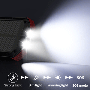 soalr charger with flashlight