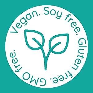Vegan, Soy Free, Gluten Free & GMO Free