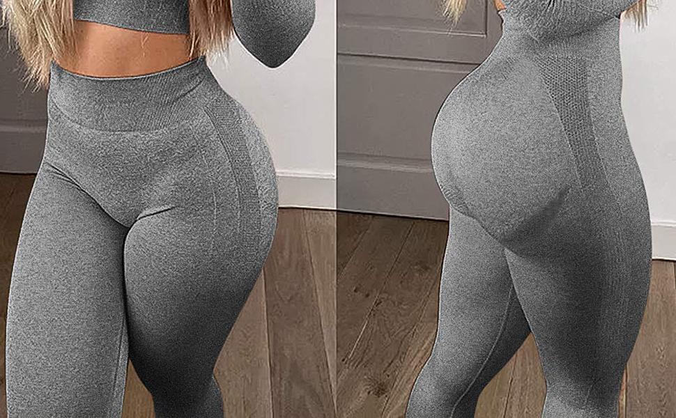 Seamless leggings for women high waist smile contour yoga pants