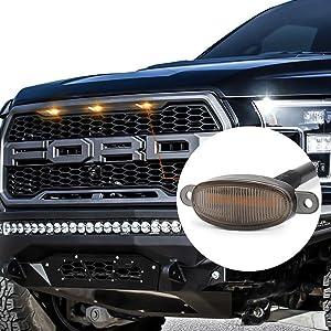 Ford Raptor Grille Light Smoked Lens Amber Grille Lights