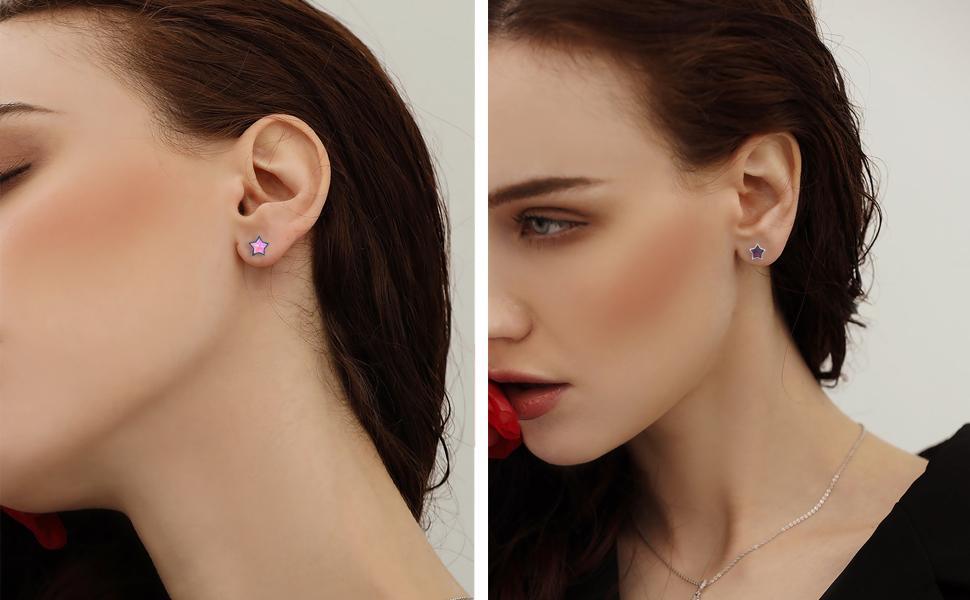 Hypoallergenic stud earrings