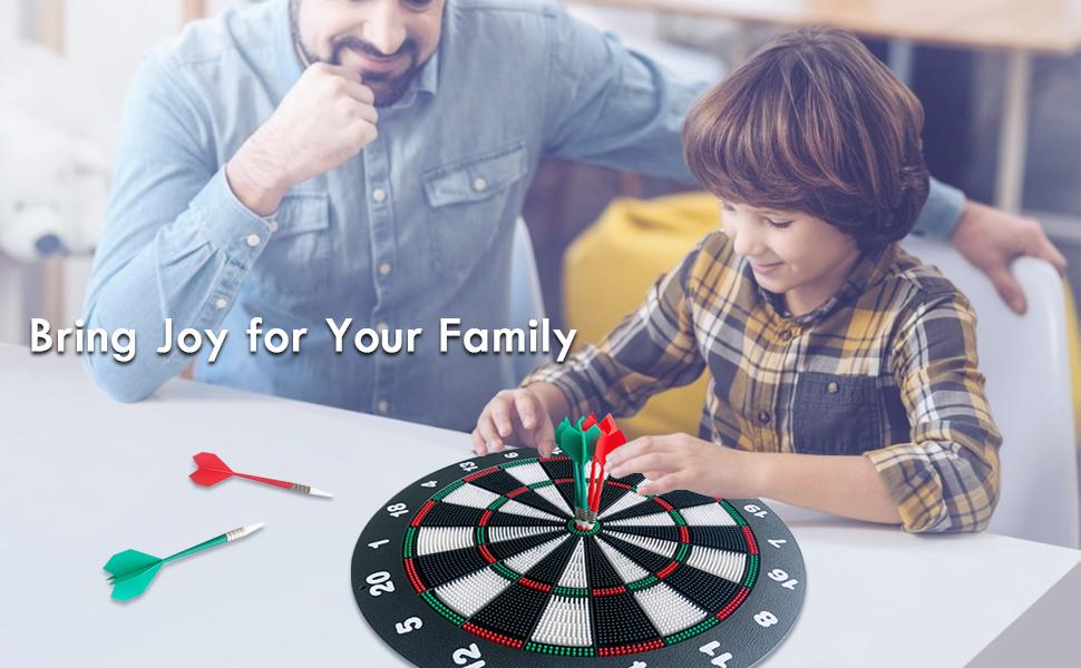 Safety dart board family pleasure
