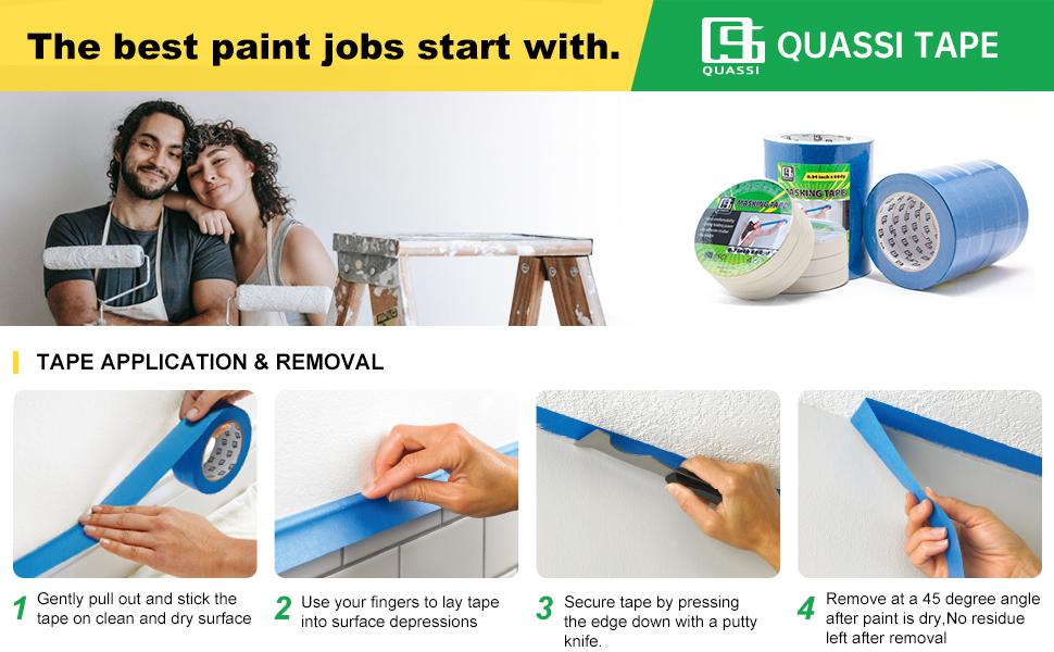 Painters Tape General Purpose Blue White Beige