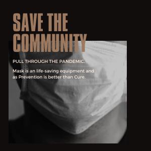 Save The Community, Wear masks.