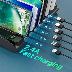 fast charging station for desk counter table top