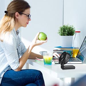 Desk Fan, Office Fan, Foldable Handheld Fan, Mini Fan, USB Fan, Rechargeable Fan, Quiet Fan